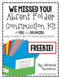 Absent Work: We Missed You Folder Construction Kit FREEBIE