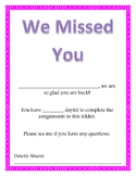 We Missed You Folder Cover (Pink and White Polka Dot Theme)