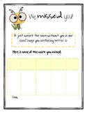 We Missed You! Student Absentee Form *Freebie*