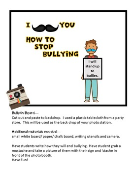 We {Mustache} You to Stop Bullying