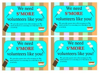 We Need S'MORE (Parents, Volunteers or Kids) Like You! by ...