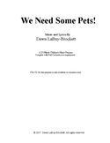 """We Need Some Pets!""  A 25-min. Music Program for Children"
