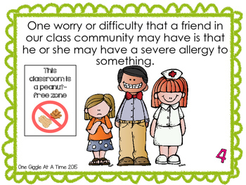 We Need To Be Respectful Of Severe Allergies In Our Classroom (A Social Story)