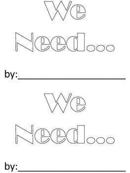 We Need book