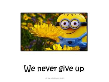 We Never Give Up Minions Poster