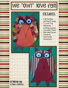 """""""We """"Owl"""" Love Fall"""" -  Craft and Literacy/Math Activities"""