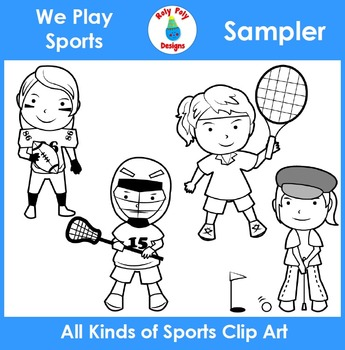 We Play Sports Clip Art Sampler