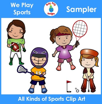 We Play Sports Clip Art Sampler