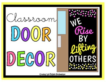 We RISE by LIFTING others (Door Decor/Bulletin Board Kit)
