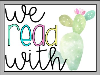 We Read With: Fluency Reminder Posters