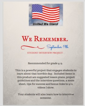 We Remember: 9/11 Interview Project and Lesson Ideas