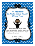 FREE We Remember Dr. Martin Luther King Jr. Writing Paper