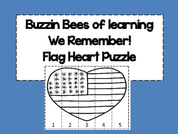 We Remember Flag Puzzle