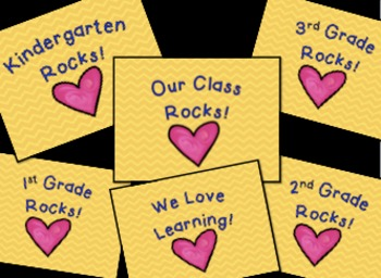 We Rock!  Super cute background display or wallpaper for your computer or iPad