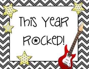 We Rocked This Year! This Year Rocked! Bulletin Board Set End of the Year