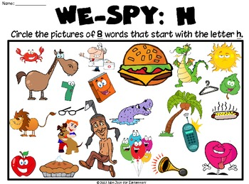 """We-SPY: Letter """"h"""""""