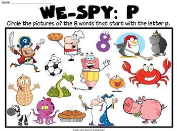 "We-SPY: Letter ""p"""