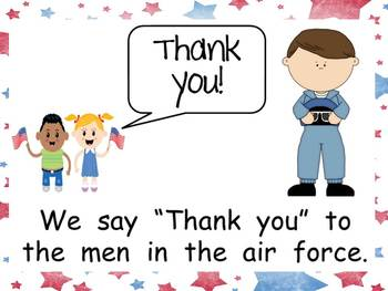 We Say Thank You to Veterans Shared Reading PowerPoint Kindergarten