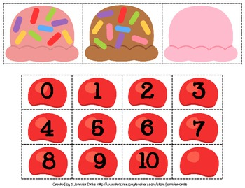 We Scream For Ice Cream...Addition! ~Addition Practice 0-10~ Center & Printables