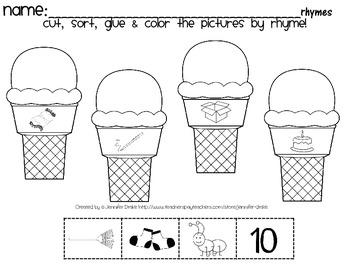 We Scream For Ice Cream...Rhymes!  **FREEBIE***