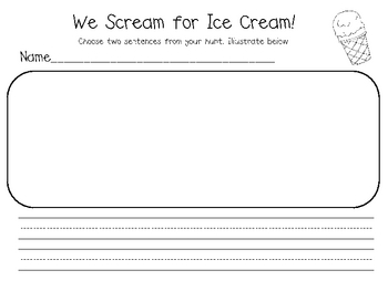 We Scream for Ice Cream Sentence Reading Kit (Long and Short I)