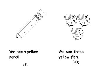 We See Yellow Sight Word Book - Week 3