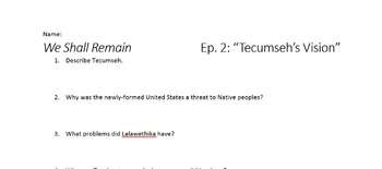 We Shall Remain - Episode 2: Tecumseh's Vision Viewing Guide