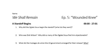 We Shall Remain - Episode 5: Wounded Knee Viewing Guide