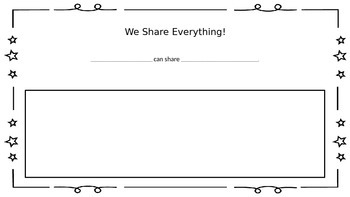 We Share Everything! Book Activity