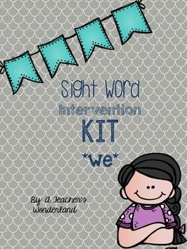 We Sight Word Worksheet Intervention Kit