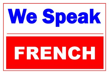 We Speak French Poster 36 X 24