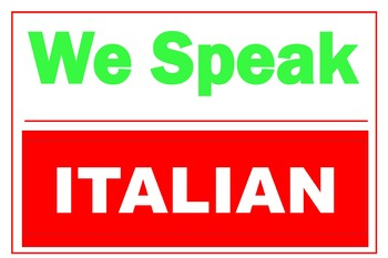 We Speak Italian  36 X 24