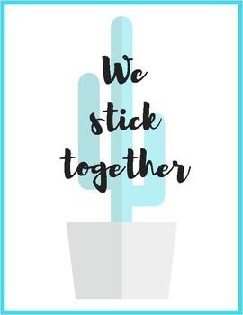 We Stick Together Poster