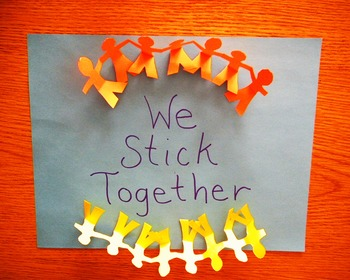 We Stick Together Sign for Classroom Cooperation