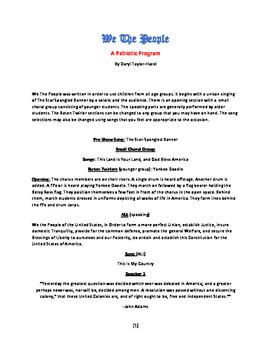 We The People - A Patriotic Program