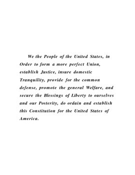 We The People; Common and Proper Nouns