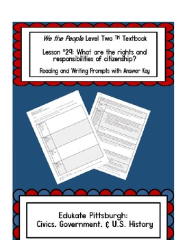 We The People Level 2 Lesson 29 Notes Printable