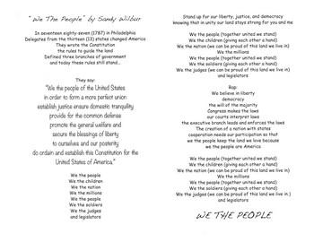We The People Song Lyrics by Sandy Wilbur