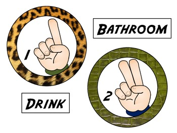 We Use Hand Signals: Jungle/Safari Theme