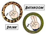 We Use Hand Signals: Jungle/Safari Theme