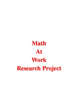 We Use Math Research Project