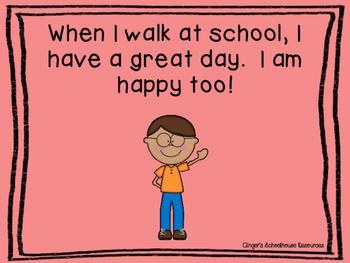 We Walk at School Social Story