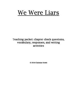 We Were Liars Curriculum packet