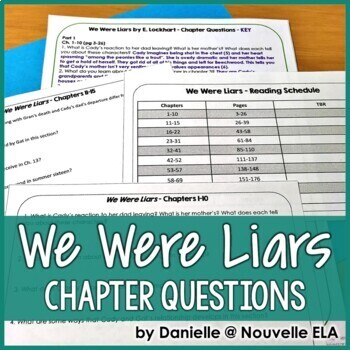 We Were Liars by E Lockhart - Chapter Questions