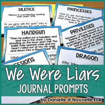 We Were Liars by E Lockhart - Journal Prompts
