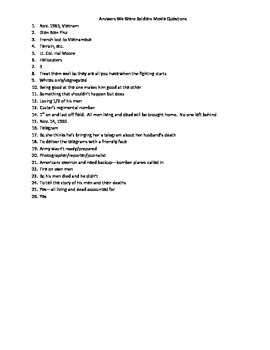 We Were Soldiers Movie Viewing Questions