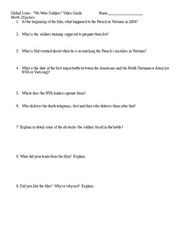We Were Soldiers Video Guide Questions