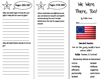 We Were There, Too! Trifold - Journeys 5th Grade Unit 3 We