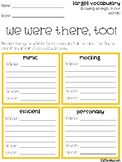 We Were There, Too Vocabulary Grids