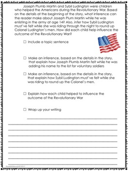 We Were There, Too!-Writing Prompt-Journeys Grade 5-Lesson 15